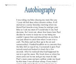 example of an autobiography essay
